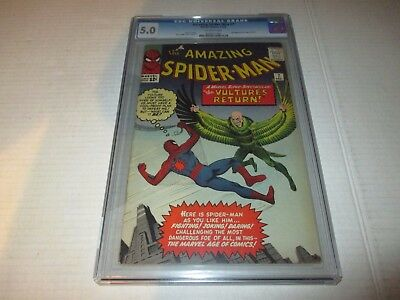 Amazing Spider-Man #7 CGC Grade 5.0 2nd App Of The Vulture