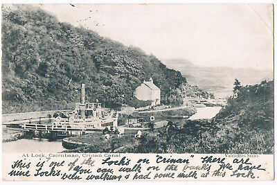 Cairnbaan - S.s.linett At Lock 7 On Crinan Canal - Posted 1903 - Valentine's