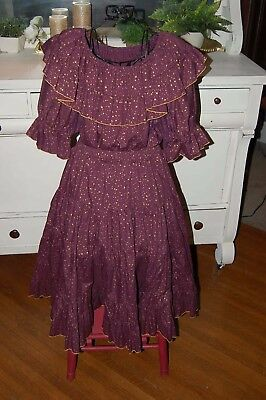 Ladies Square Dance Outfit  Sz Large Top & Skirt