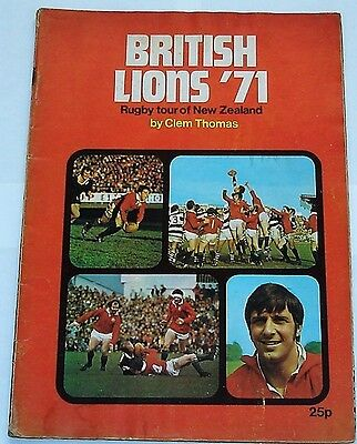 BRITISH LIONS RUGBY TOUR BROCHURE 1971 by CLEM THOMAS