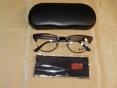 Authentic Ray Ban RB5154-2077 Matte Black Eyeglass Frame 49 21 140 BRAND 8901a2e9cd1d