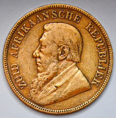 1897 SOUTH AFRICA Gold Kruger Pond - Series Minted between 1892 & 1900