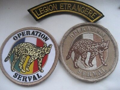 French  Foreign Legion Paras.2 Rep.patches 'operation Serval Mali.2013.