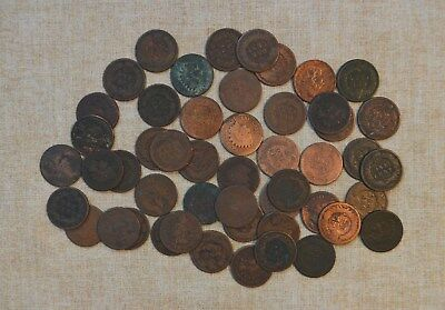 Roll Of 1876 Indian Head Cents - Circulated With Problems - 50 Coins