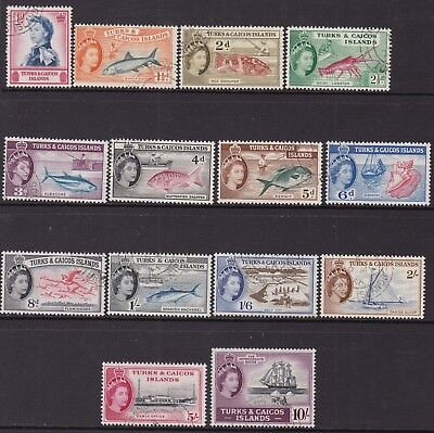 Turks & Caicos 1957 Set To 10S Fine Used, Cat £14