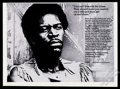1973 Luther Allison photo Motown Records vintage print ad