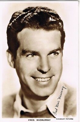 Vintage 1930s: REAL PHOTO FILM STAR POSTCARD: FRED MACMURRAY: POSTAGE DISCOUNT