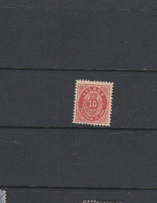 An very nice unused Iceland early 10 Aur issue
