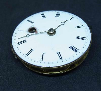 A Working Continental Verge Fusee Movement Pocket Watch Ref Tom151