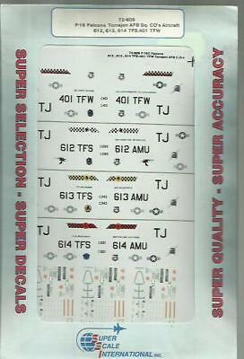 Microscale Superscale Decals 72-609 F-16C Falcon USAFE decals in 1:72 Scale