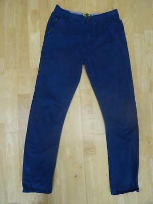 TED BAKER boys navy blue chino trousers AGE 13 YEARS VERY GOOD CONDITION