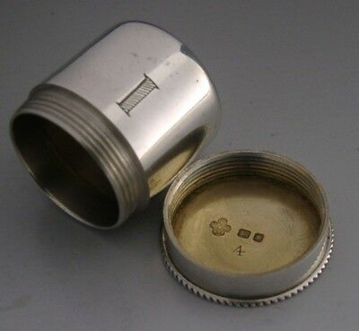 Sterling Silver Priests / Ointment Box / Oil Pot 1938 Religious Antique