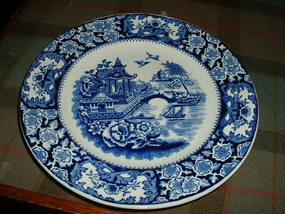 Lovely Antique Olde Alton Ware Blue And White Pottery Plate