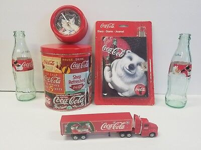 Coca Cola lot with Christmas Semi & Trailer + 1993 700 Piece Puzzle with Tin NIP