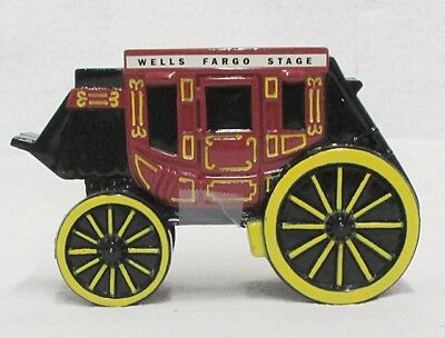 Metal Wells Fargo Stagecoach Coin Bank
