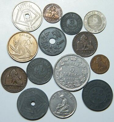 WCA 14 Coins From Belgium 1865 - 1980 Lot # 98