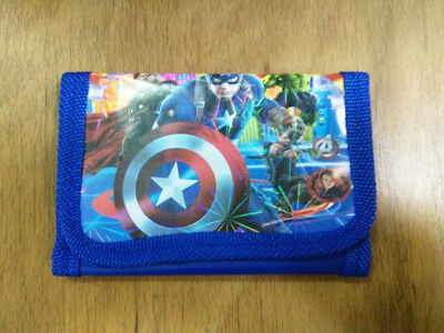 Marvel's The Avengers kids boy's Coin Money Pouch Bags Purse Wallet Xmas Gift b