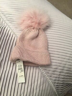 Girls Dusky Pink Hat Nwts From River Island age 3-6 years