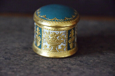 Minton Neo-Classical Gold And Green Oval Trinket Box And Cover