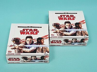 Topps Star Wars 2017 die letzten Jedi 2 x Display / 60 Booster Trading Cards