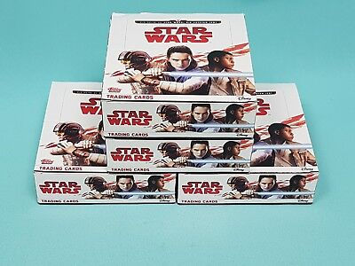 Topps Star Wars 2017 die letzten Jedi 4 x Display / 120 Booster Trading Cards