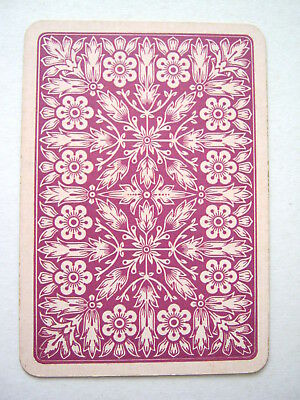 Playing Cards 1 Single Swap Antique English Wide Artistic Flowers