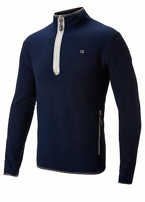 Calvin Klein Golf 1/4 Zip Fleece Pullover Navy Large