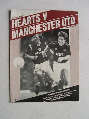 Hearts v Manchester United 1986/87 Friendly