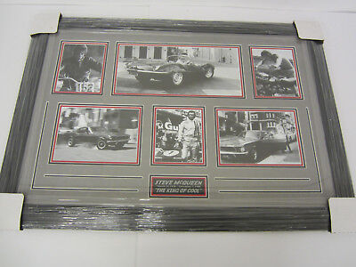 "Steve McQueen ""The King of Cool"" professionally framed matted B&W photos"