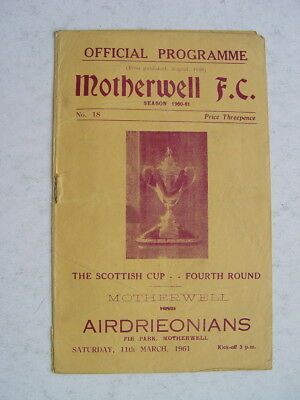 Motherwell v Airdrieonians 1960/61 Scottish Cup