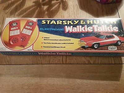 METTOY  starsky hutch WALKIE-TALKIE SET RARE BOXED 1970's MADE IN GREAT BRITAIN