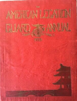 Antique 1933 American Legation Guard Annual Book Peking China Marine Embassy
