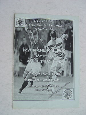 Rangers v Celtic 2003/04 SPL Under 19 March