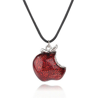 Regina Mill Red Poison Apple Once Upon A Time Necklace Pendant Charm Necklace BB