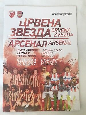 Red star Belgrade V Arsenal  Programme