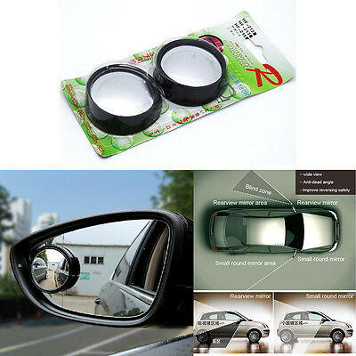 2x Car Rearview Blind Spot Side Rear View Mirror Convex Wide Angle New