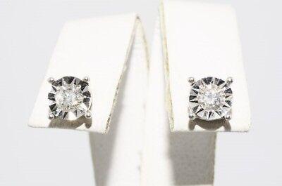 .30Ct Natural Round Cut White Diamond Stud Earrings 10K White Gold