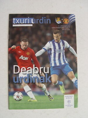 Real Sociedad v Manchester United 2013/14 Champions League