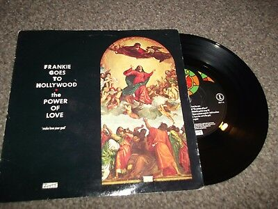 """FRANKIE GOES TO HOLLYWOOD the power of love 7"""" VINYL RECORD ZTAS 5"""