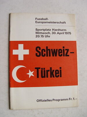 Switzerland v Turkey 1975 European Championship