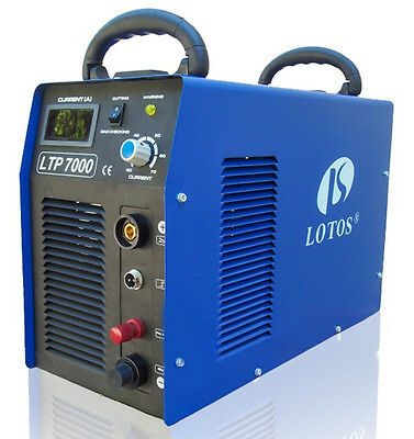 "Plasma Cutter Pilot Arc 70Amp Lotos LTP7000 50/60Hz Cuts 7/8"" Dirty Rough Metal"