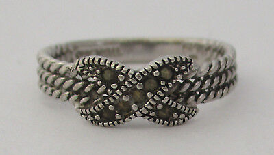 Vintage Sterling Silver Marcasite Ring 925 Size 9