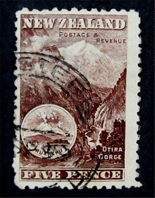 nystamps British New Zealand Stamp # 77 Used $225