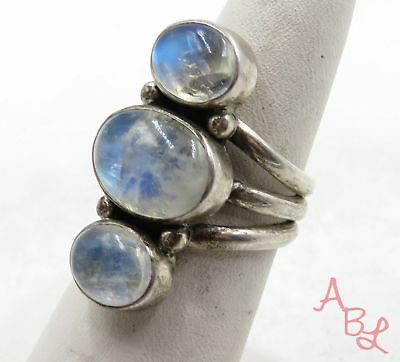 Nicky Butler Sterling Silver 925 3-Stone Moonstone Ring Sz 7 (11.5g) - 575455