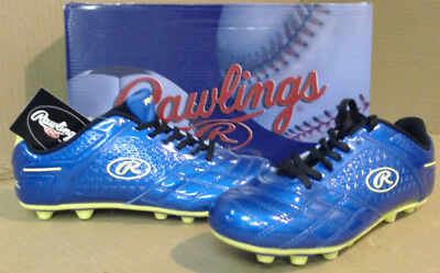 NEW Rawlings 16 Stadio Boys' Soccer Cleats sz 7, Blue