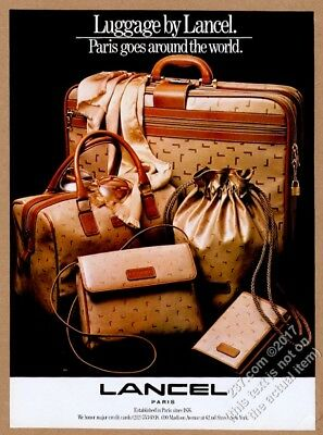 1983 Lancel luggage purse suitcase bags photo vintage print ad