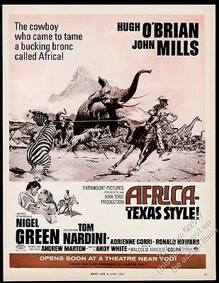 1967 Africa Texas Style movie release vintage print ad