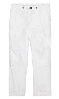 New Polo Ralph Lauren Ripstop Cargo Pants White Size 5, 8, and 10-12