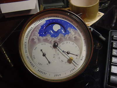 19c French Mantle clock, moonphase, triple date calendar, complete with backs!