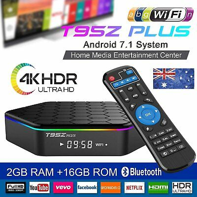 Smart TV Box T95Z PLUS Android 7.1 4K  2G 16 Bluetooth Streaming Media Player AU